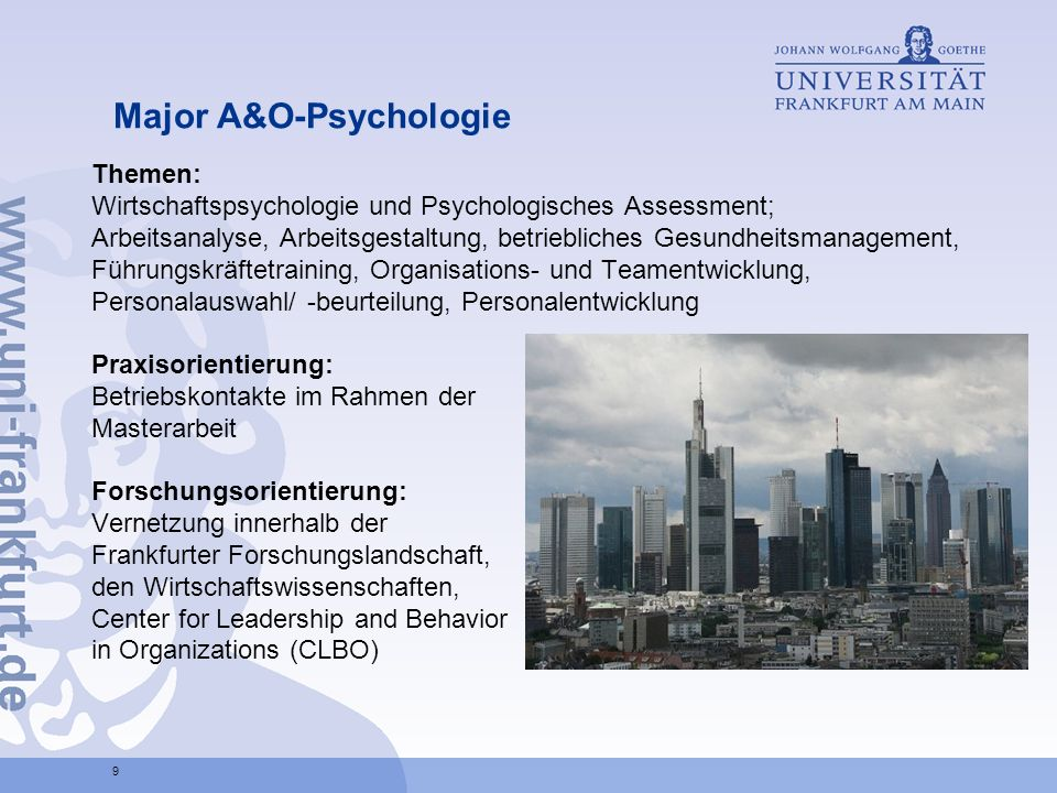 Major A&O-Psychologie