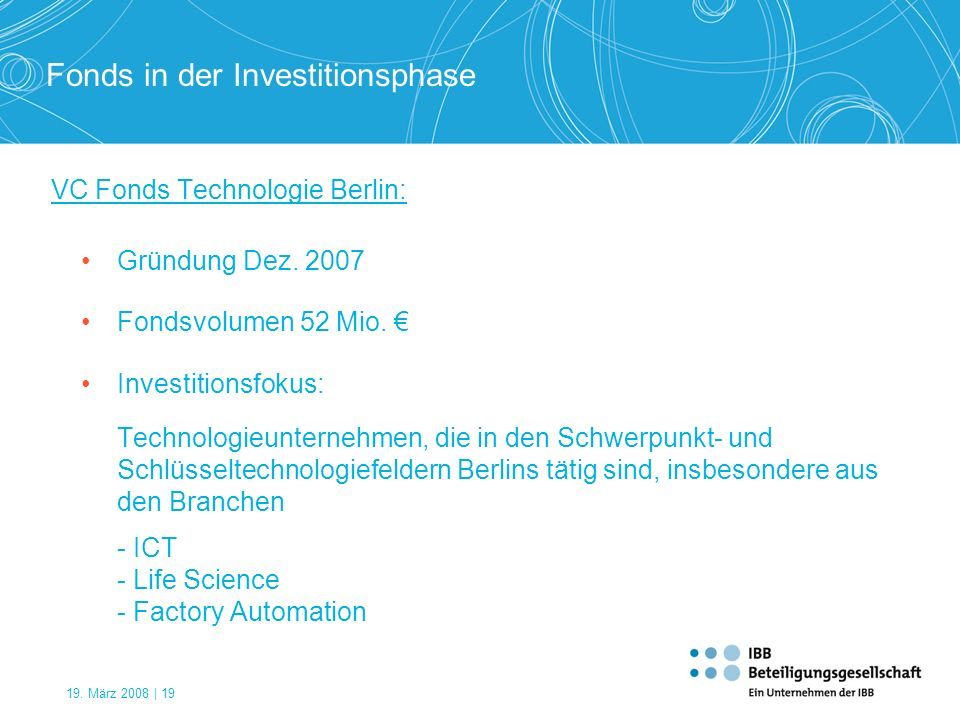 VC Fonds Technologie Berlin: