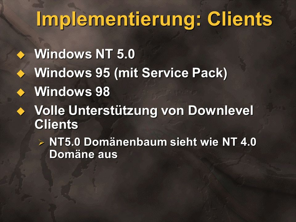 Implementierung: Clients