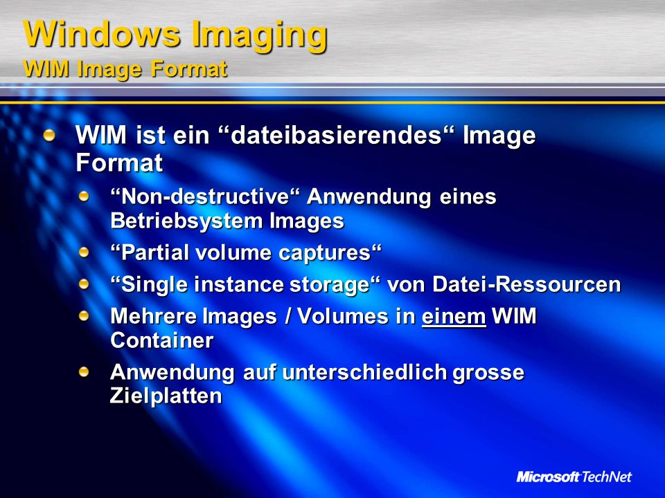 Windows Imaging WIM Image Format