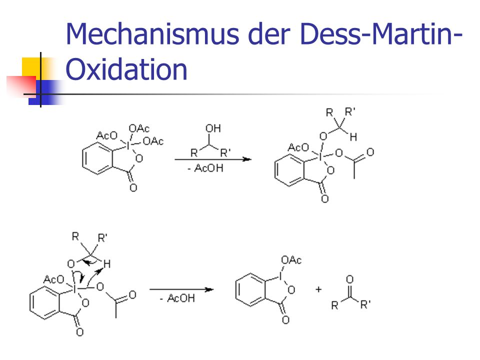 Mechanismus der Dess-Martin-Oxidation