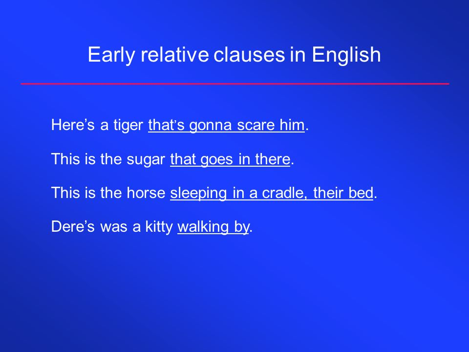 Early relative clauses in English