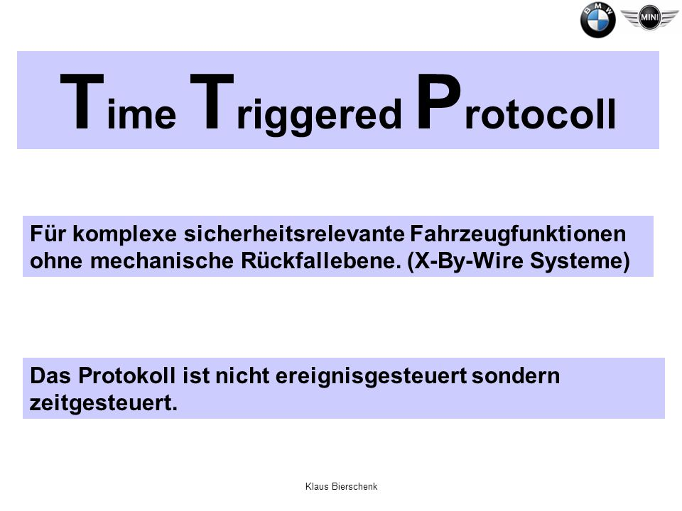 Time Triggered Protocoll