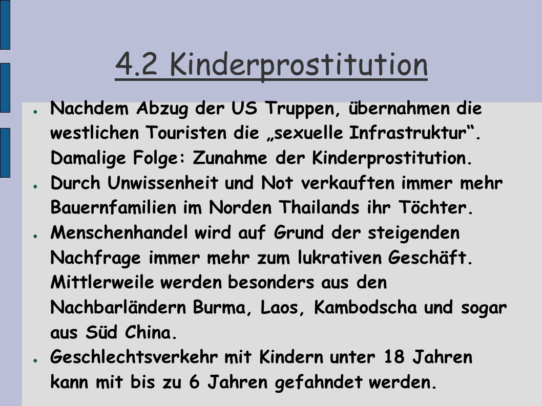 4.2 Kinderprostitution