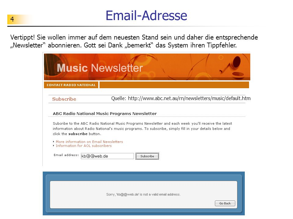 Email-Adresse