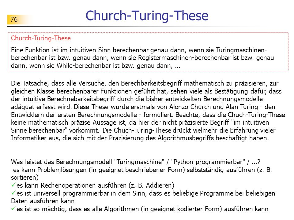 Church-Turing-These Church-Turing-These