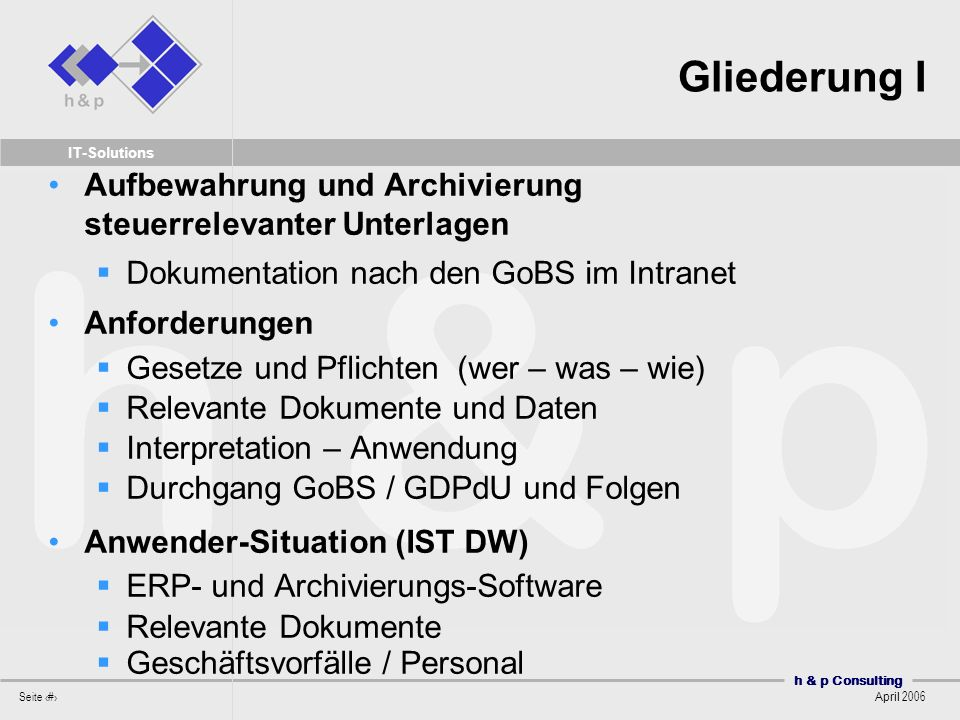 Aufbewahrungspflichten und Dokumentation - ppt herunterladen