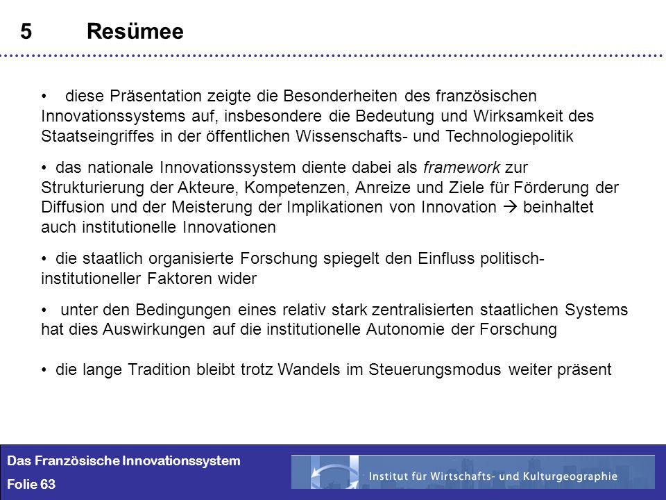 Das Französische Innovationssystem Regionale Konzentration Ppt