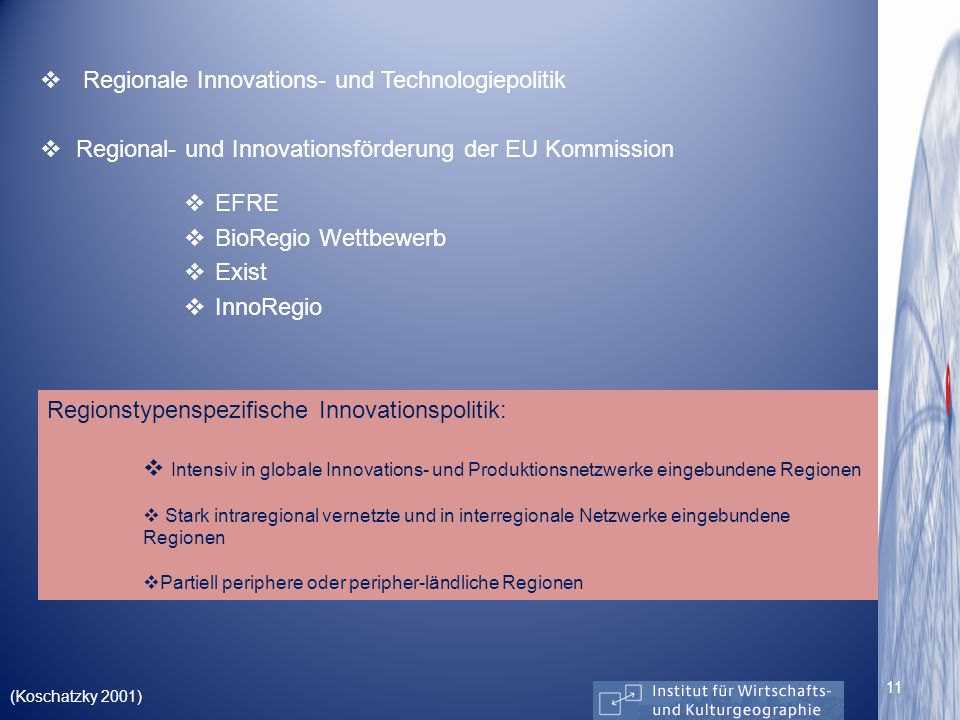Regionale Innovations- und Technologiepolitik