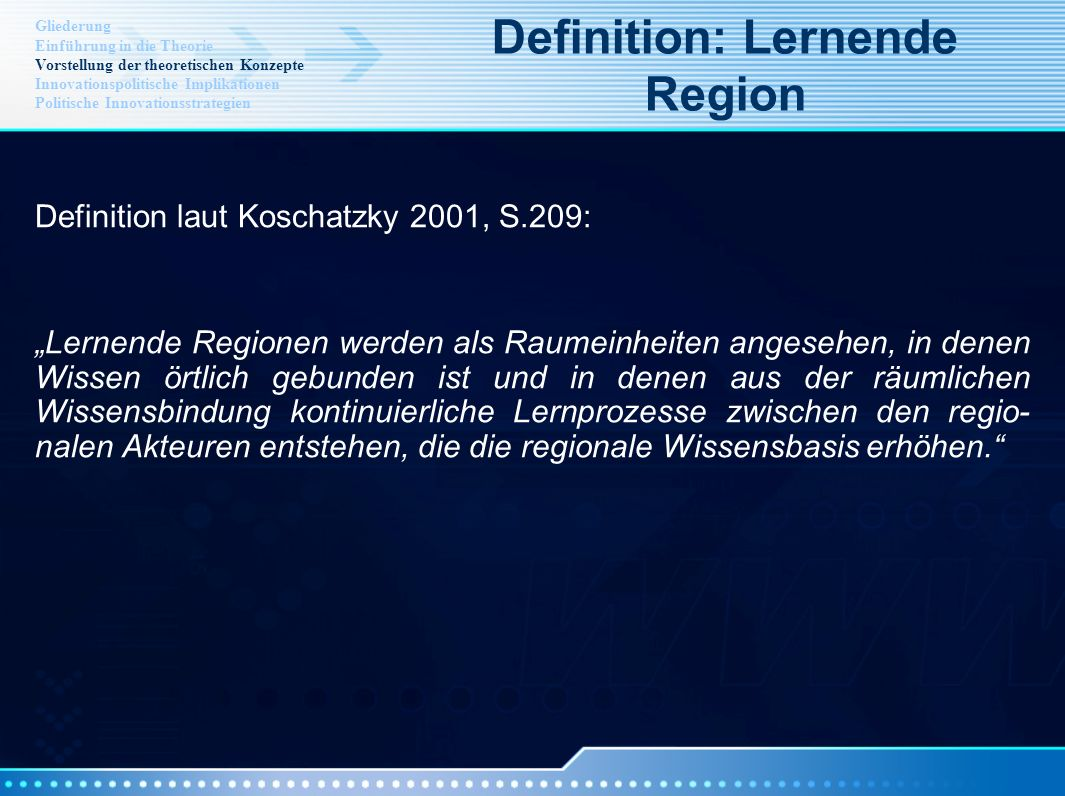 Definition: Lernende Region