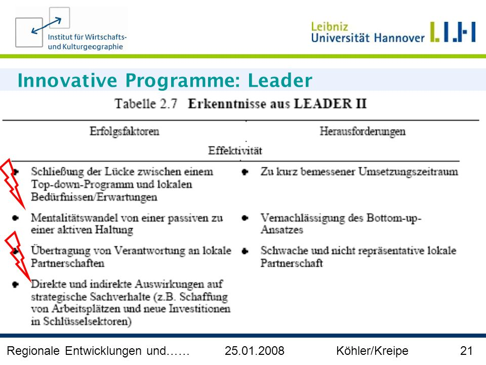 Innovative Programme: Leader