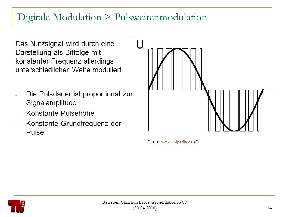 Digitale Modulation > Pulsweitenmodulation