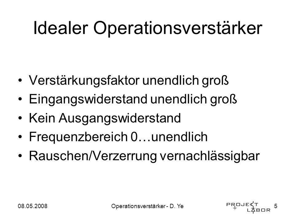 Idealer Operationsverstärker