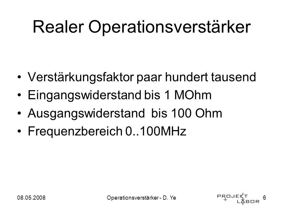 Realer Operationsverstärker