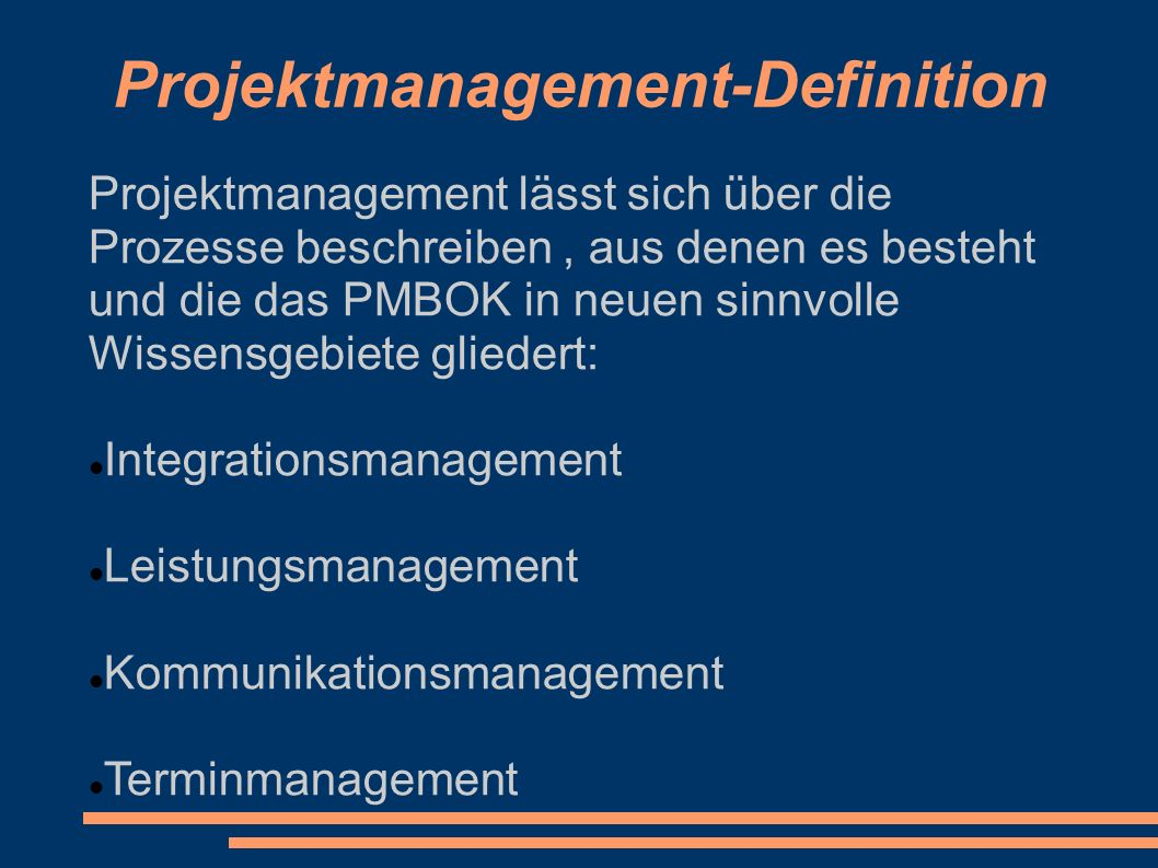 Projektmanagement-Definition