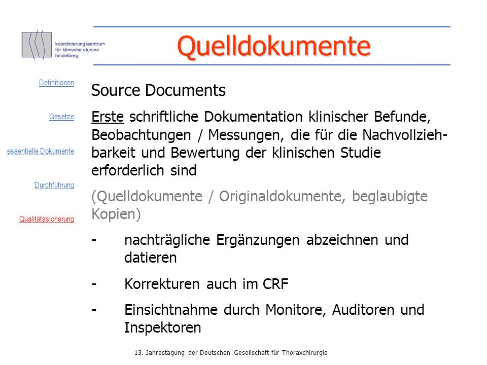 Quelldokumente Source Documents
