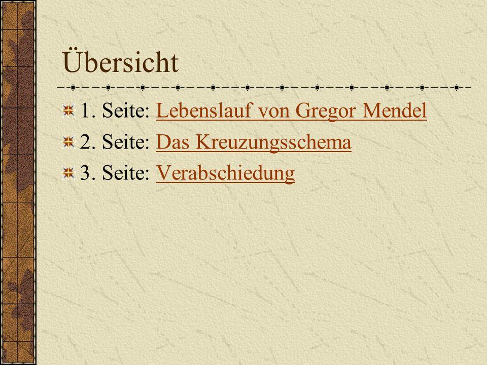 Gregor Mendel Biografie Lebenslauf