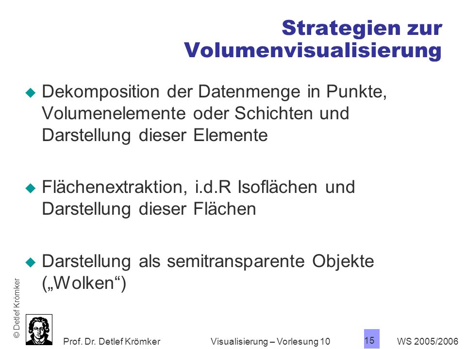 Strategien zur Volumenvisualisierung