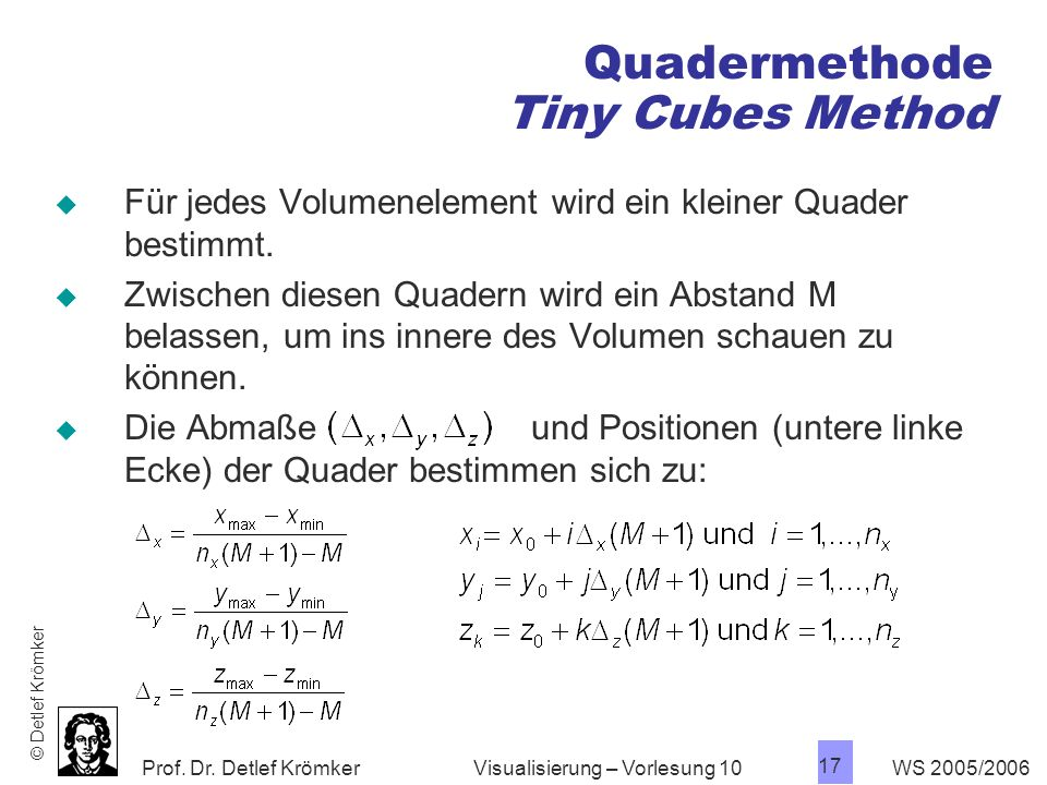 Quadermethode Tiny Cubes Method