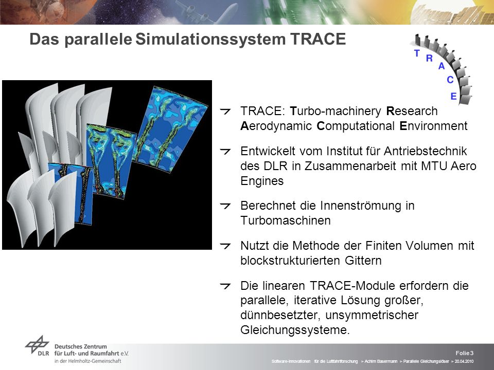 Das parallele Simulationssystem TRACE