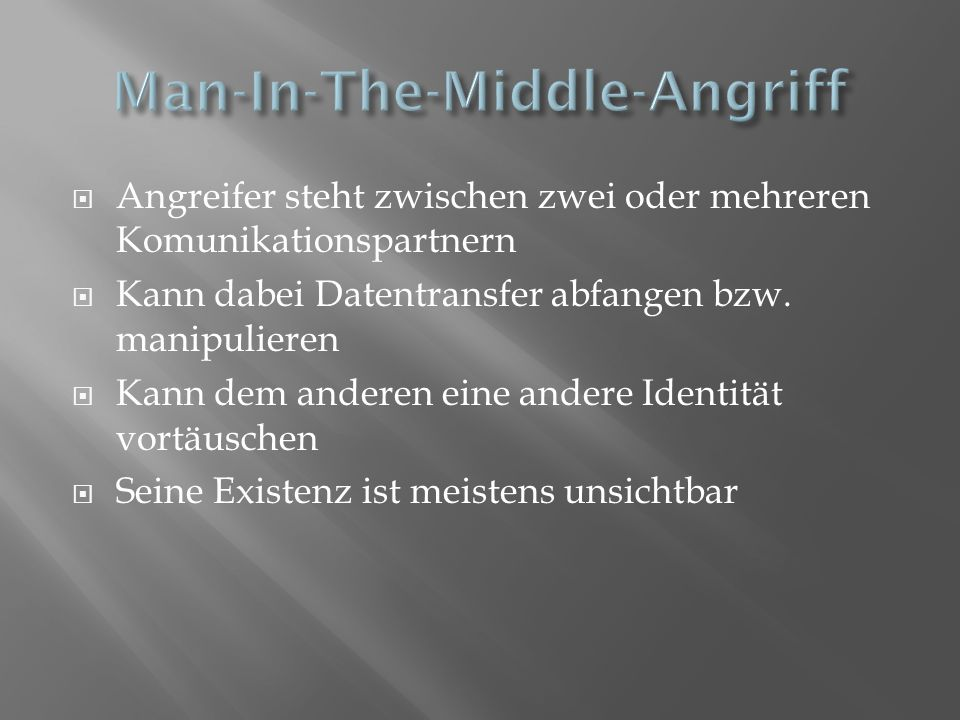 Man-In-The-Middle-Angriff