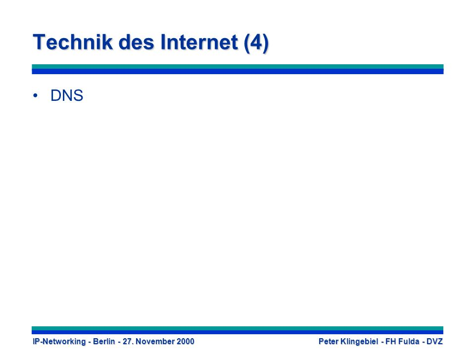 Technik des Internet (4)