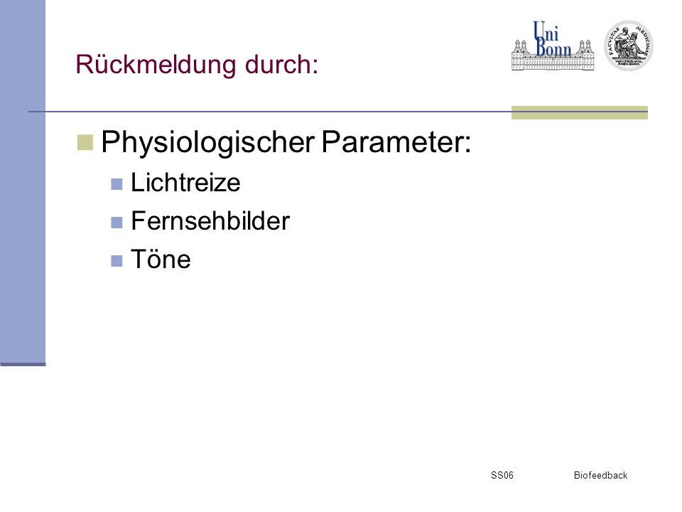 Physiologischer Parameter: