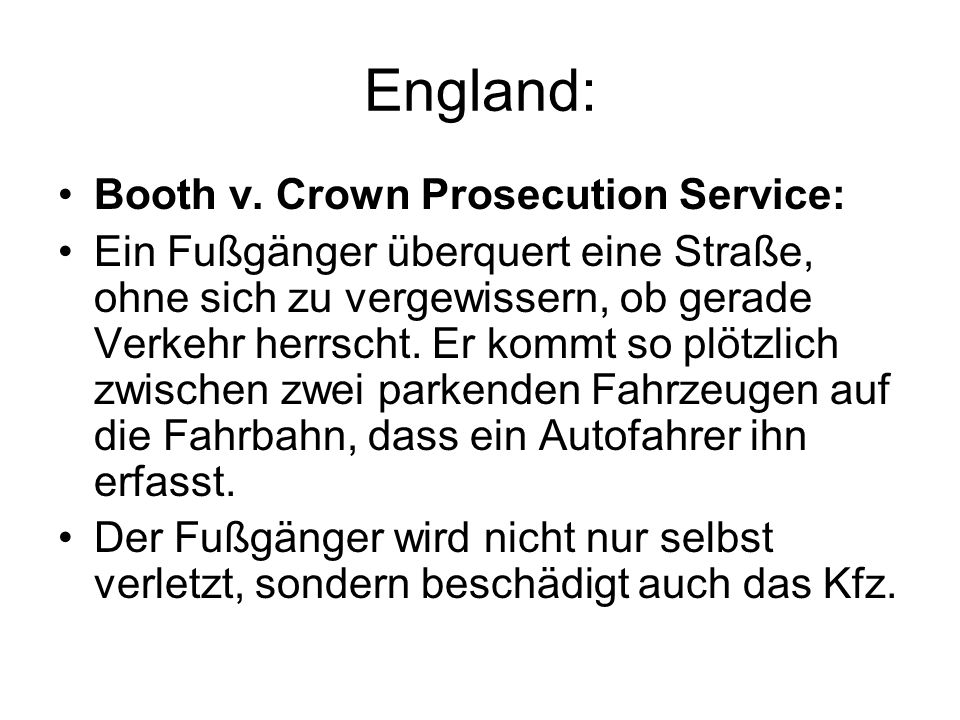England: Booth v. Crown Prosecution Service: