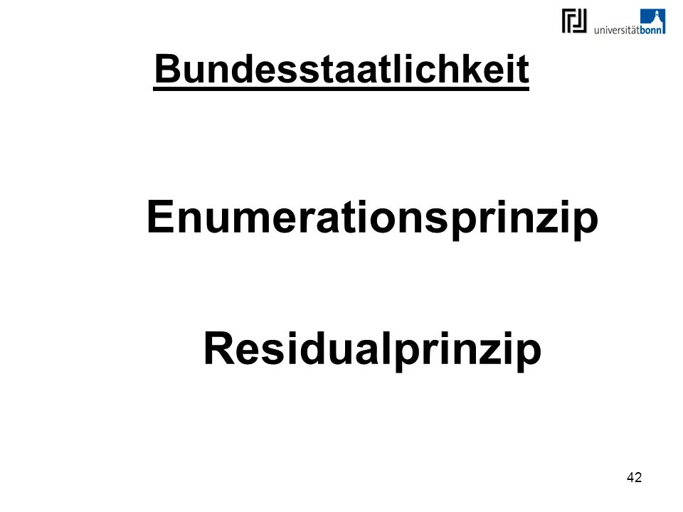 Enumerationsprinzip Residualprinzip