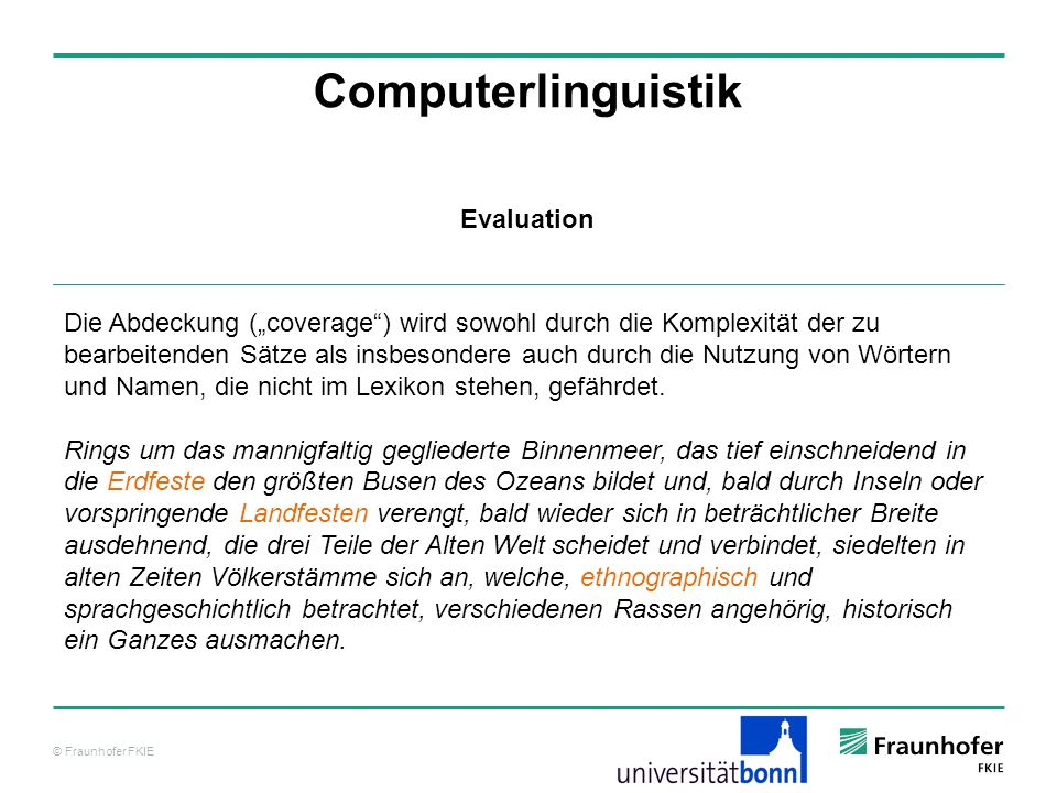 Computerlinguistik Evaluation
