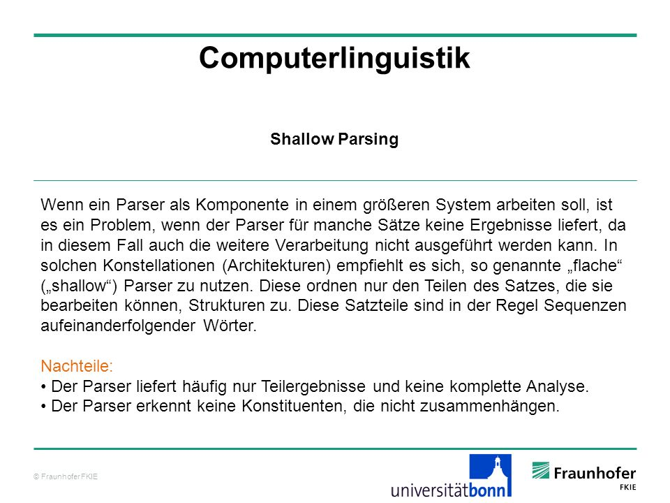 Computerlinguistik Shallow Parsing