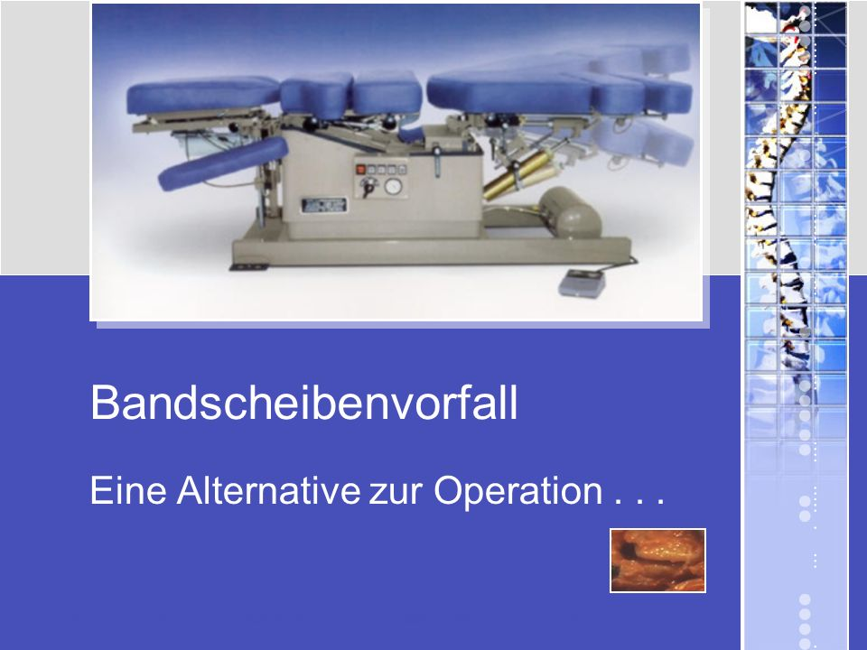 Eine Alternative zur Operation . . .