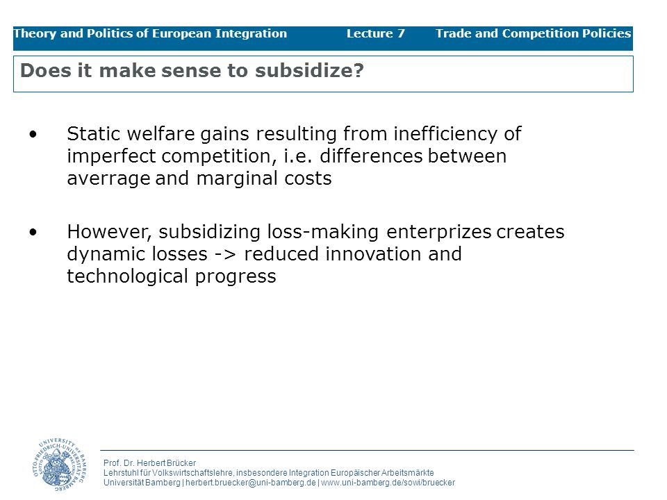 Does it make sense to subsidize