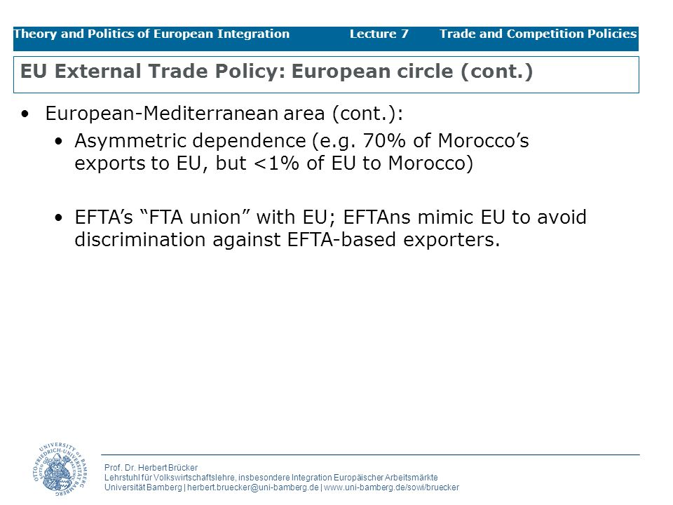 EU External Trade Policy: European circle (cont.)