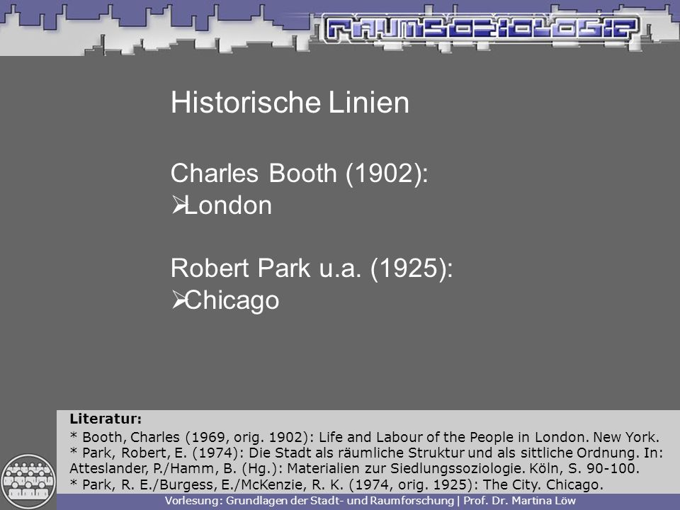 Historische Linien Charles Booth (1902): London