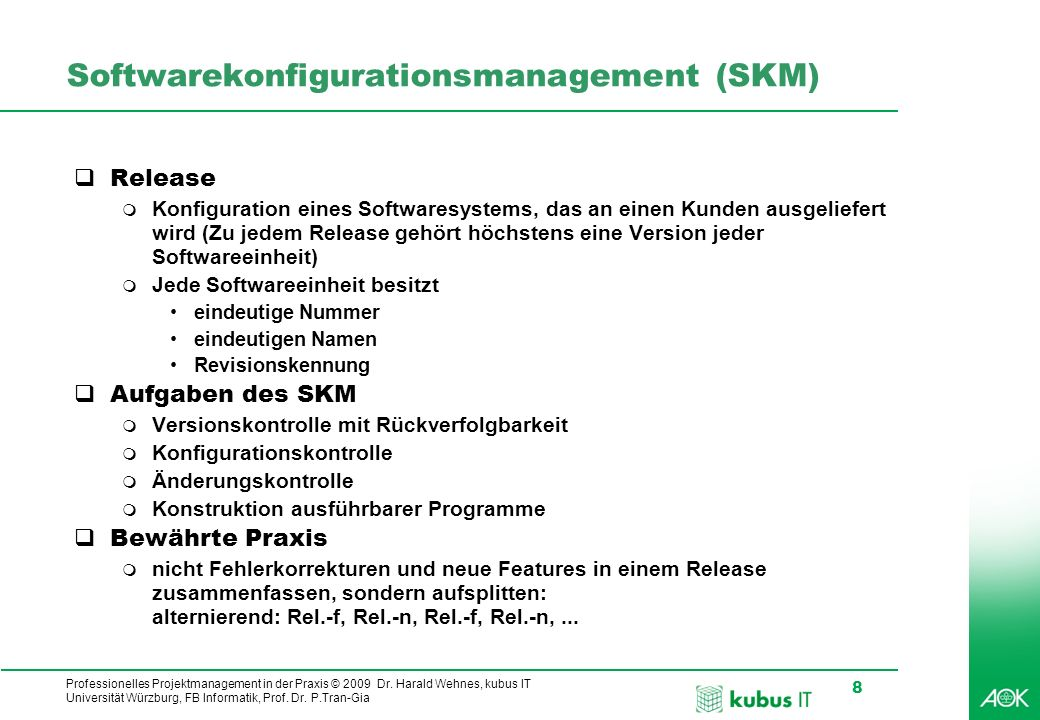 Softwarekonfigurationsmanagement (SKM)