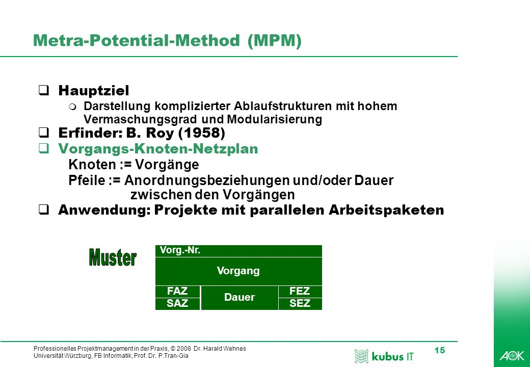 Metra-Potential-Method (MPM)