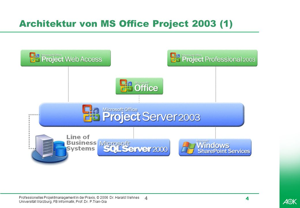 Architektur von MS Office Project 2003 (1)