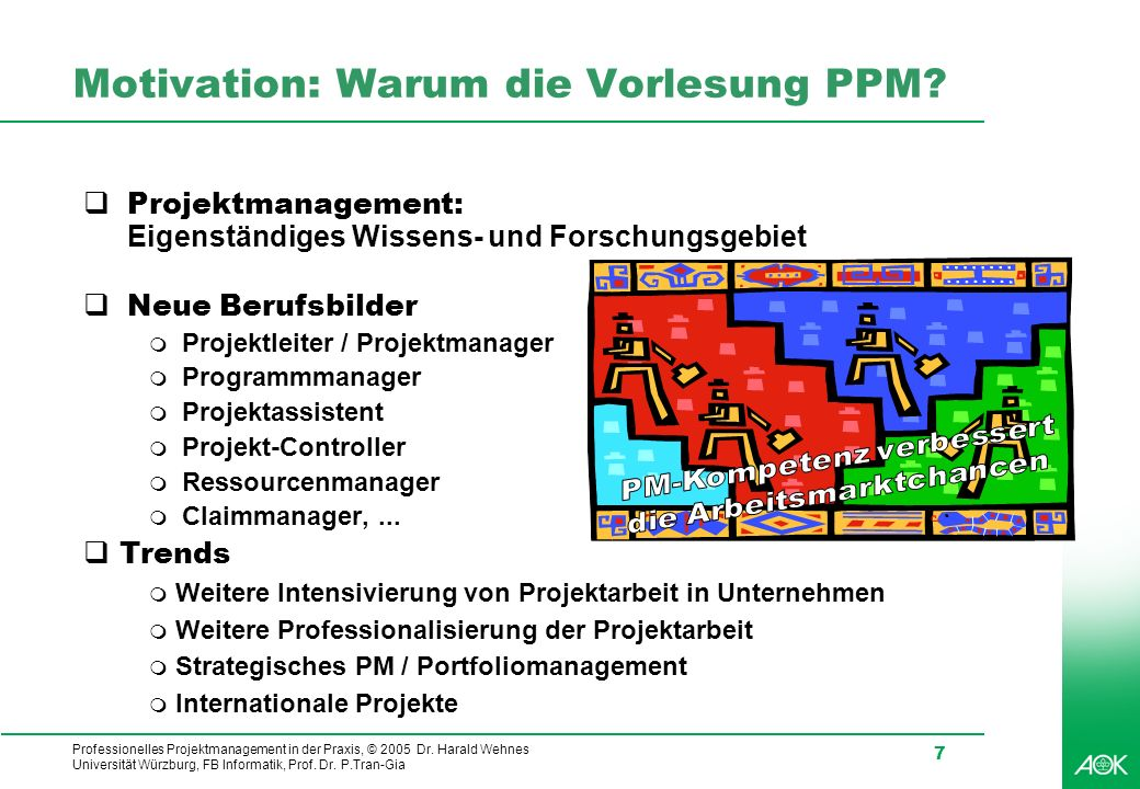 Motivation: Warum die Vorlesung PPM