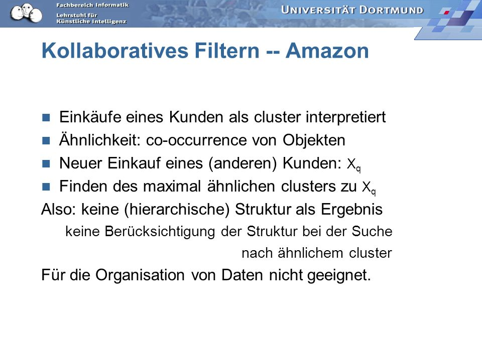 Kollaboratives Filtern -- Amazon