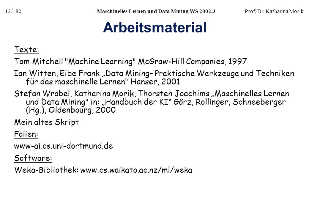 Arbeitsmaterial Texte: