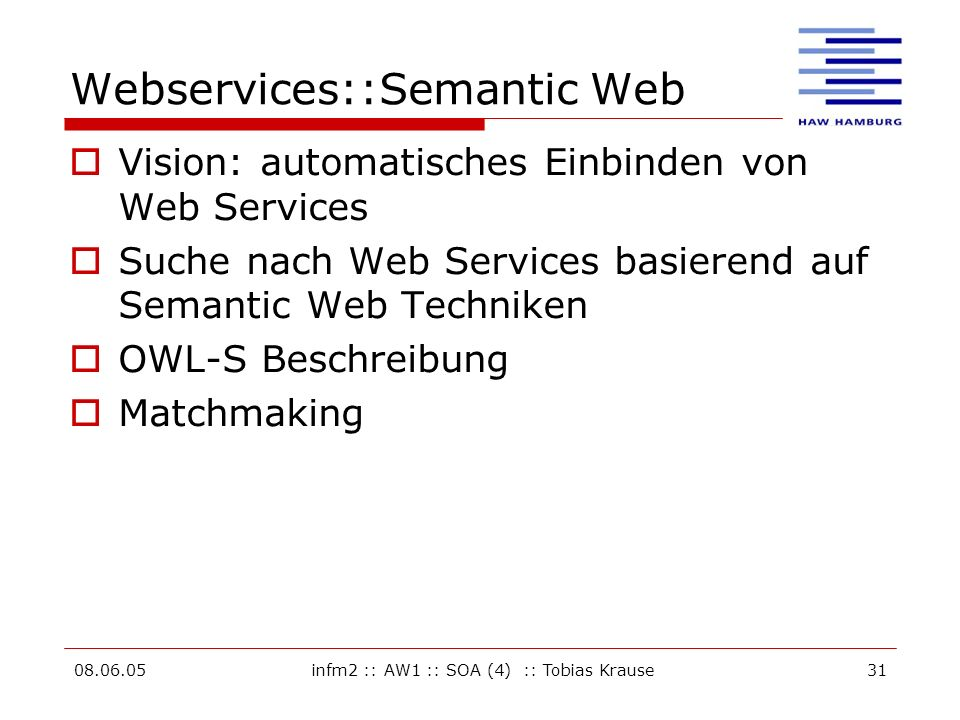 Webservices::Semantic Web