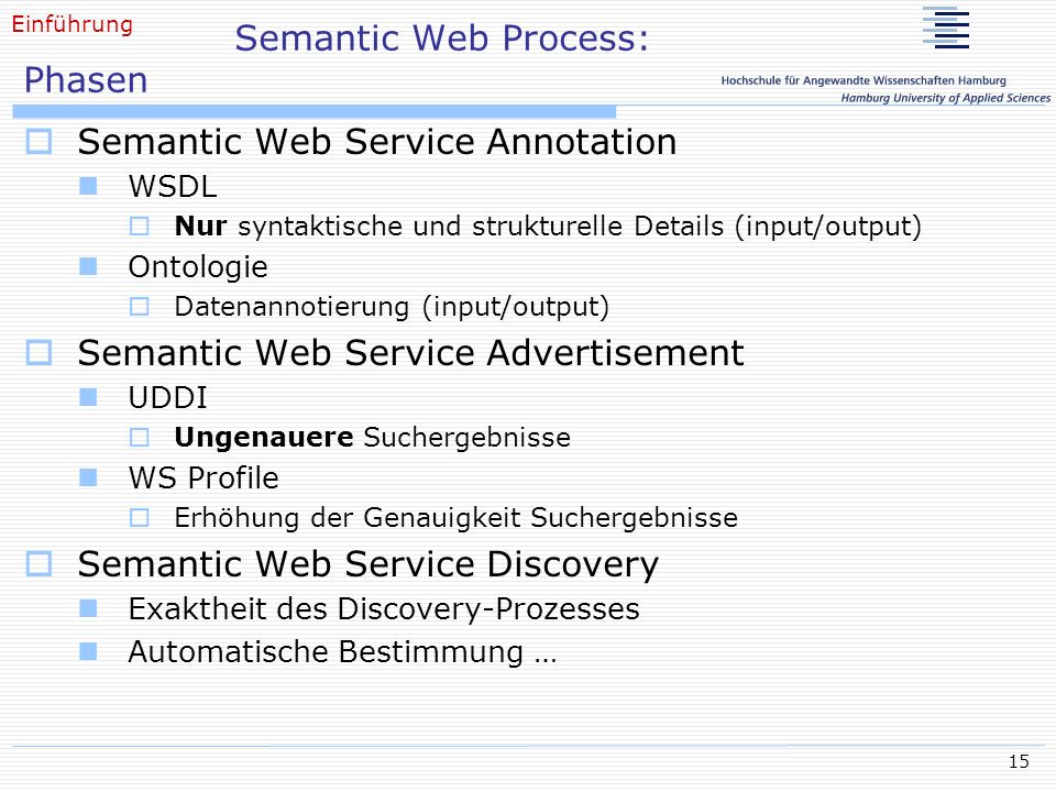 Semantic Web Process: Phasen