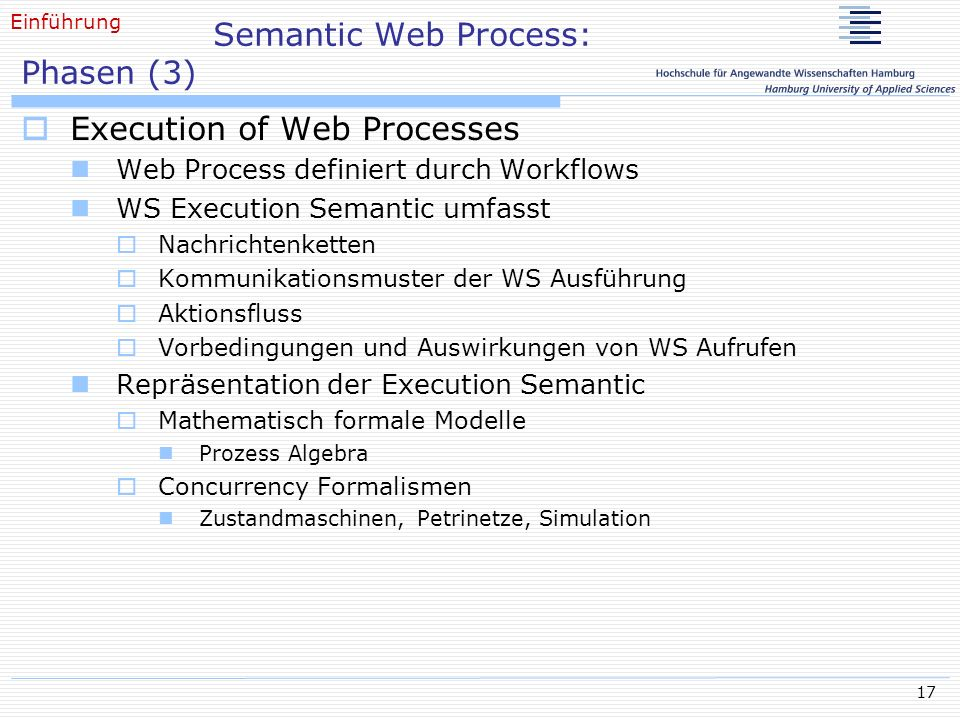 Semantic Web Process: Phasen (3)
