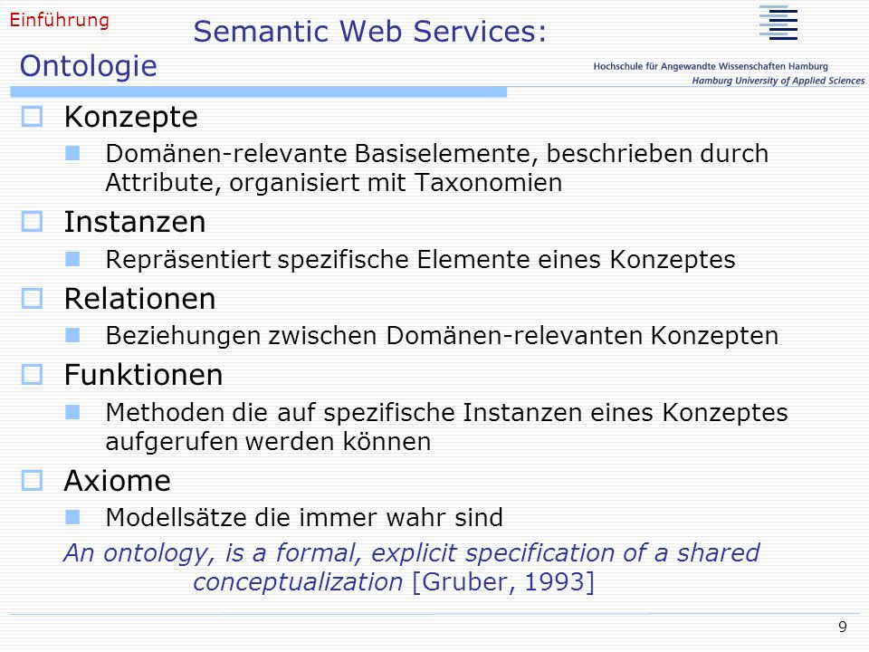 Semantic Web Services: Ontologie