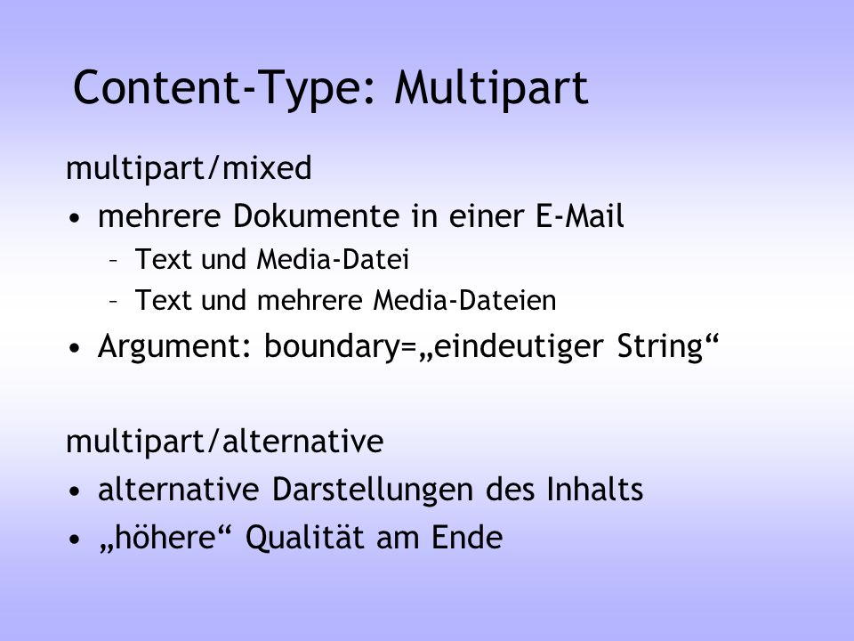 Content-Type: Multipart