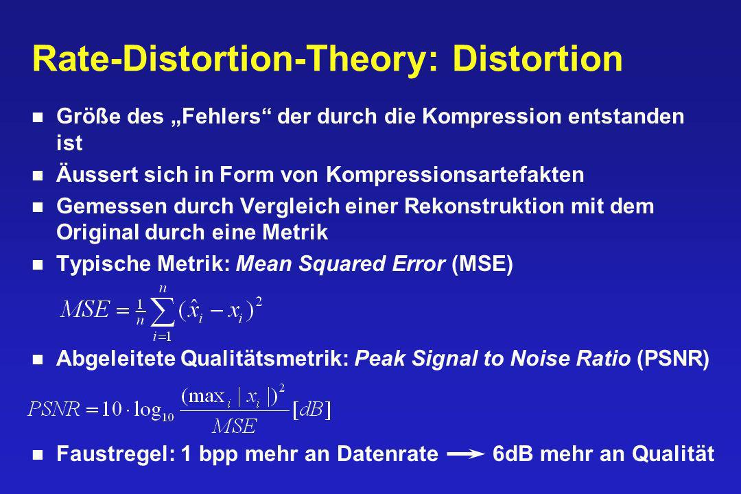 Rate-Distortion-Theory: Distortion