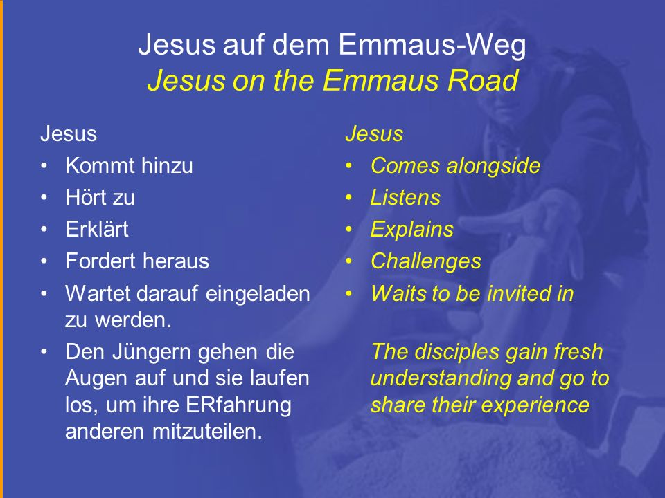 Jesus auf dem Emmaus-Weg Jesus on the Emmaus Road