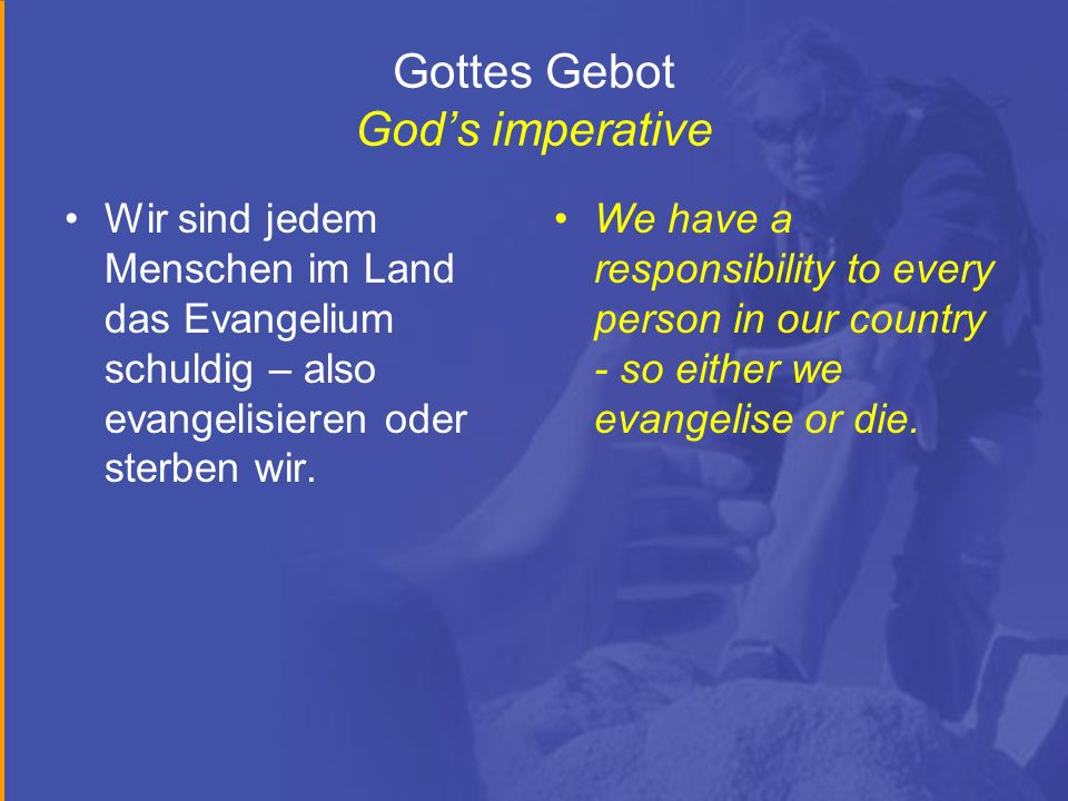 Gottes Gebot God's imperative