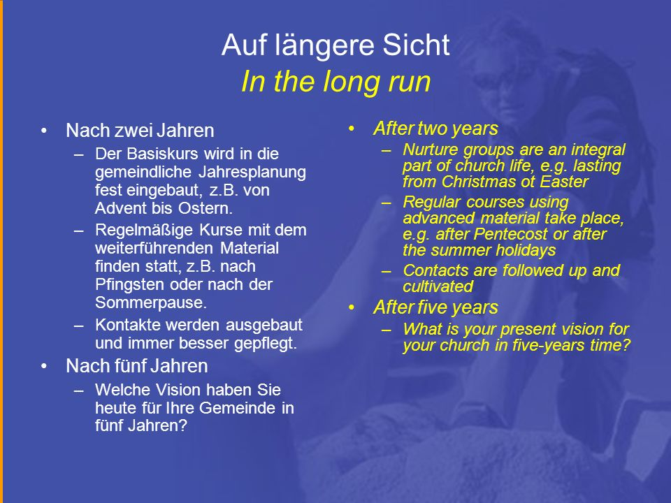 Auf längere Sicht In the long run